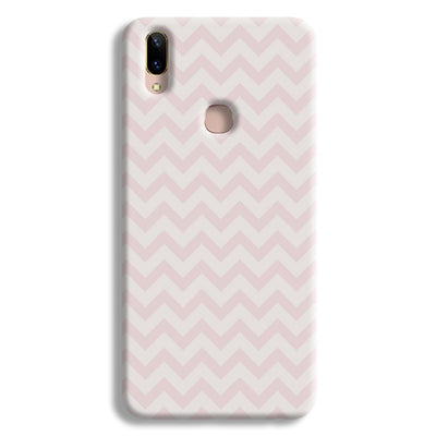 Light Pink Chevron Pattern Vivo V9 Case