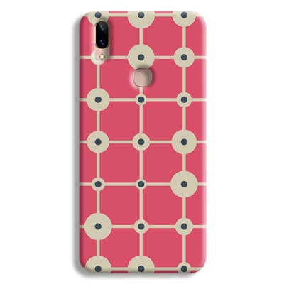 Pink & White Abstract Design Vivo Y85 Case