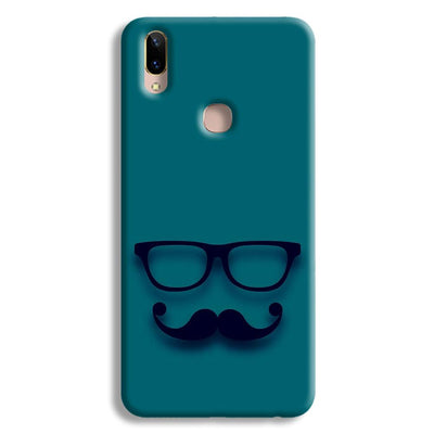 Cute mustache Blue Vivo V9 Case