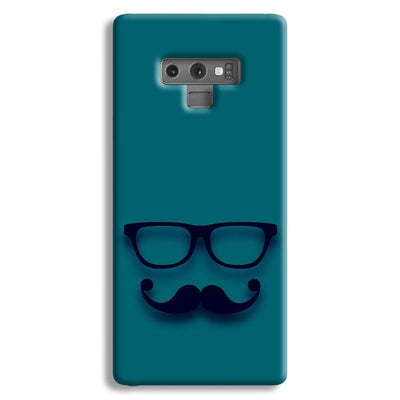 Cute mustache Blue Samsung Galaxy Note 9 Case