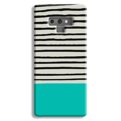 Aqua Stripes Samsung Galaxy Note 9 Case