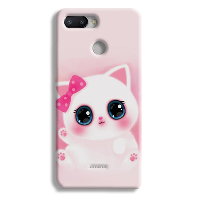 Pink Cat Redmi 6 Case