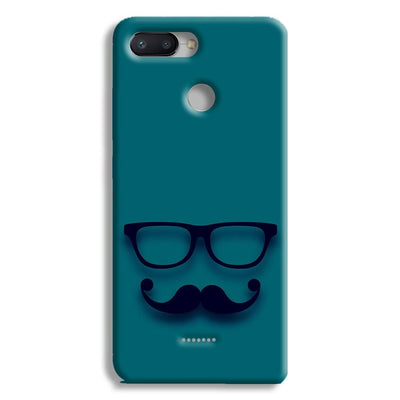 Cute mustache Blue Redmi 6 Case