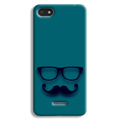 Cute mustache Blue Redmi 6A Case