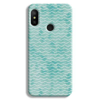 Wavy Blue Pattern Redmi A2 Lite Case