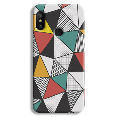Triangle Abstract Pattern Redmi A2 Lite Case