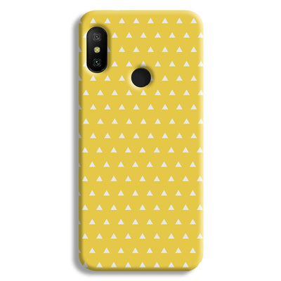 White Triangle Redmi A2 Lite Case
