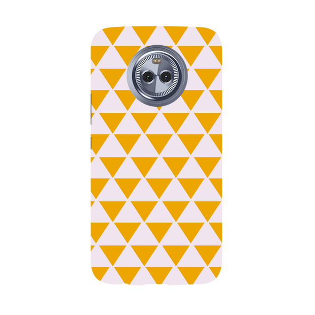 Yellow Triangle Moto X4 Case