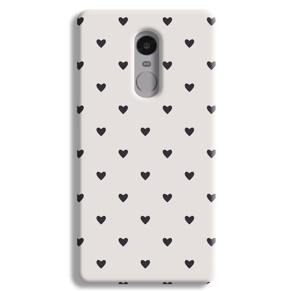 Black Heart Pattern Redmi Note 4 Case
