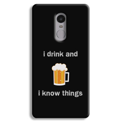 I Drink Redmi Note 4 Case