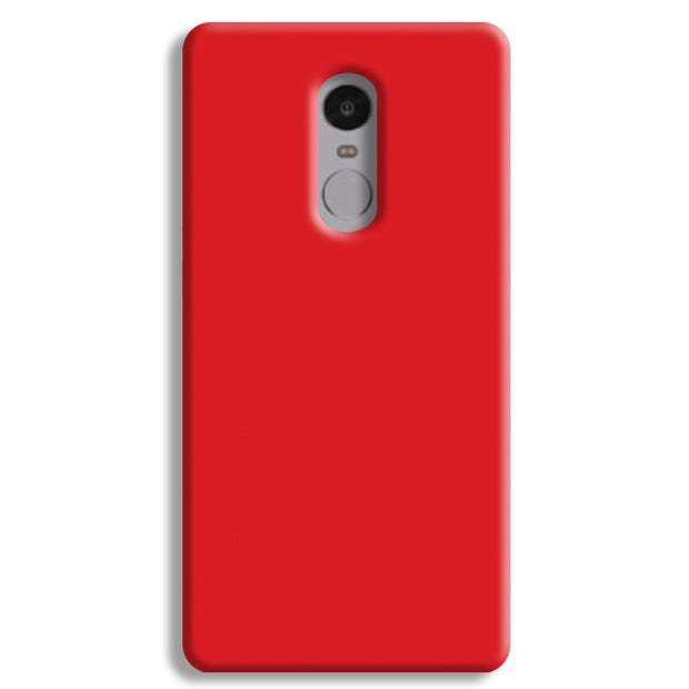 Bright Red Redmi Note 4 Case
