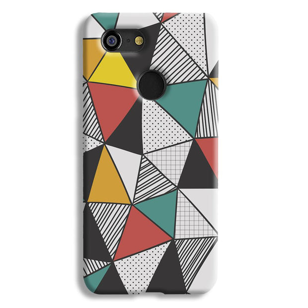 Triangle Abstract Pattern Google Pixel 3 Case