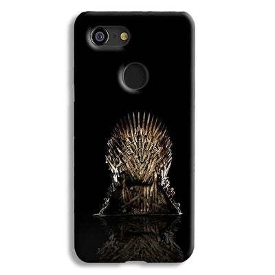 Black Iron Thrones Google Pixel 3 Case
