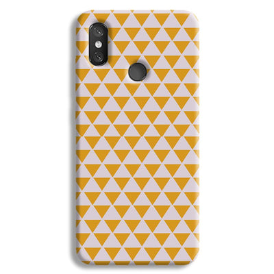 Yellow Triangle Redmi 8 Case
