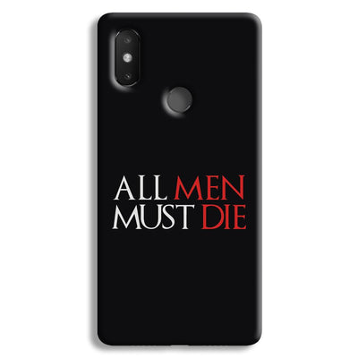 ALL MEN MUST DIE Xiaomi Mi 8 SE Case