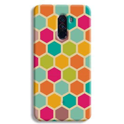 Hexagon Color Pattern POCO F1 Case