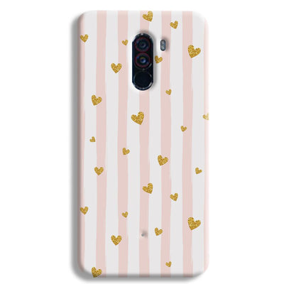 Cute Heart Pattern POCO F1 Case