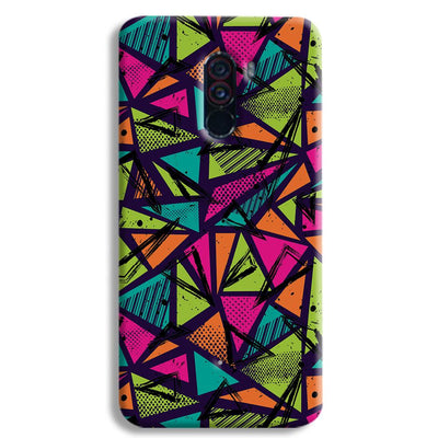 Geometric Color Pattern POCO F1 Case