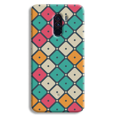 Colorful Tiles with Dot POCO F1 Case