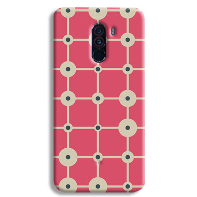 Pink & White Abstract Design POCO F1 Case