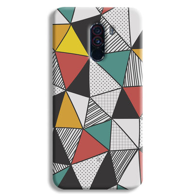 Triangle Abstract Pattern POCO F1 Case