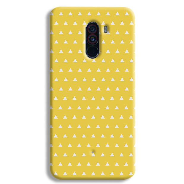 White Triangle POCO F1 Case