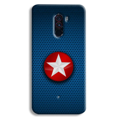 Captain America Side Star POCO F1 Case