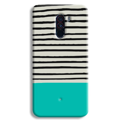 Aqua Stripes POCO F1 Case