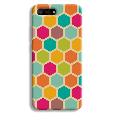 Hexagon Color Pattern Honor 10 Case