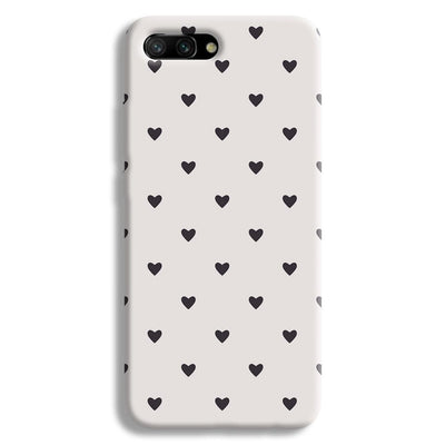 Black Heart Pattern Honor 10 Case