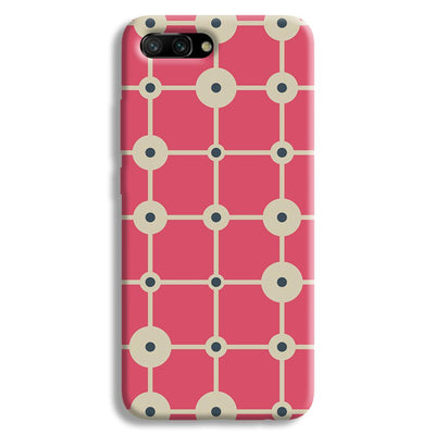 Pink & White Abstract Design Honor 10 Case