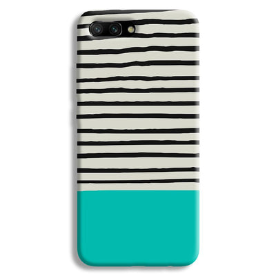 Aqua Stripes Honor 10 Case