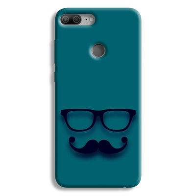 Cute mustache Blue Honor 9 Lite Case