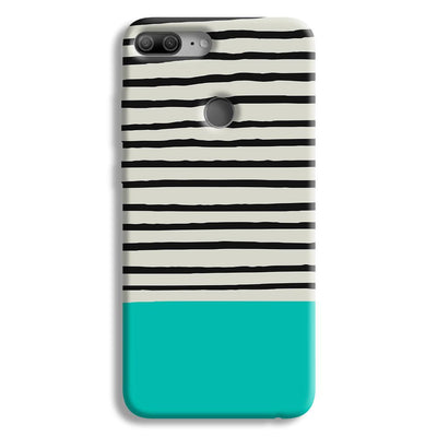 Aqua Stripes Honor 9 Lite Case