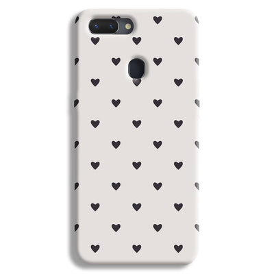 Black Heart Pattern Realme 2 Case