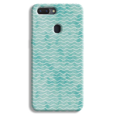 Wavy Blue Pattern Realme 2 Case