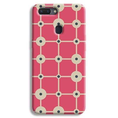 Pink & White Abstract Design Realme 2 Case