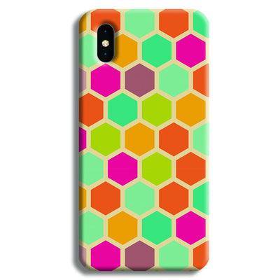 Hexagon Color Pattern iPhone X Case
