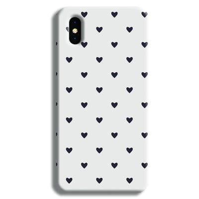 Black Heart Pattern iPhone X Case