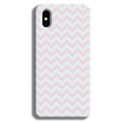 Lite Pink Chevron Pattern iPhone XS Case