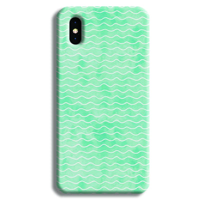 Wavy Blue Pattern iPhone XS Case