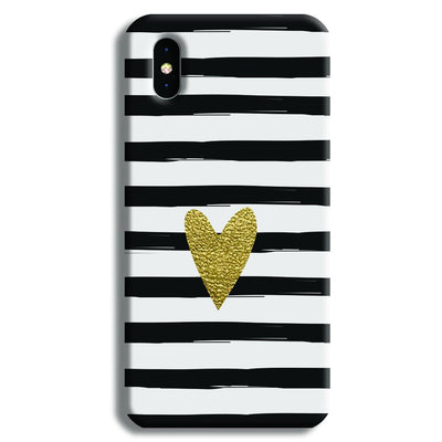 Bling Heart iPhone X Case