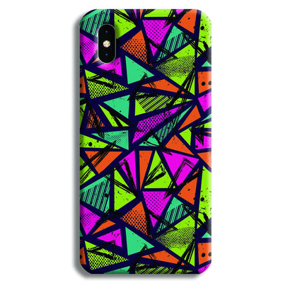 Geometric Color Pattern iPhone X Case