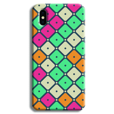 Colorful Tiles with Dot iPhone X Case