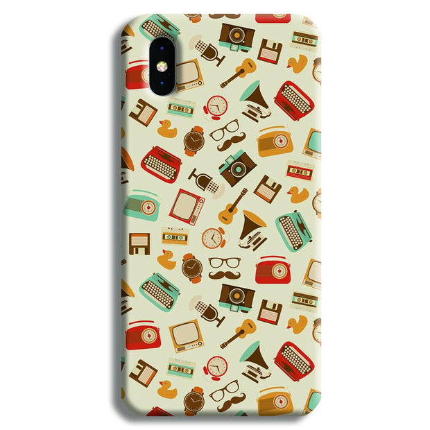 Vintage Elements Pattern iPhone XS Case