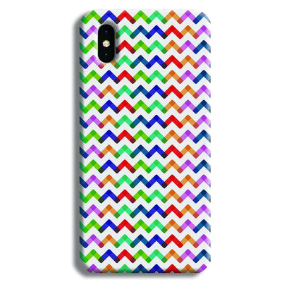Colors Chevron iPhone X Case