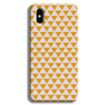 Yellow Triangle iPhone XS Case