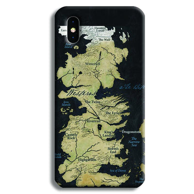 Game of Thrones Map iPhone XS Case