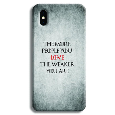 The More People Love You iPhone XS Case