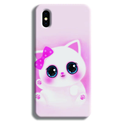 Pink Cat iPhone X Case